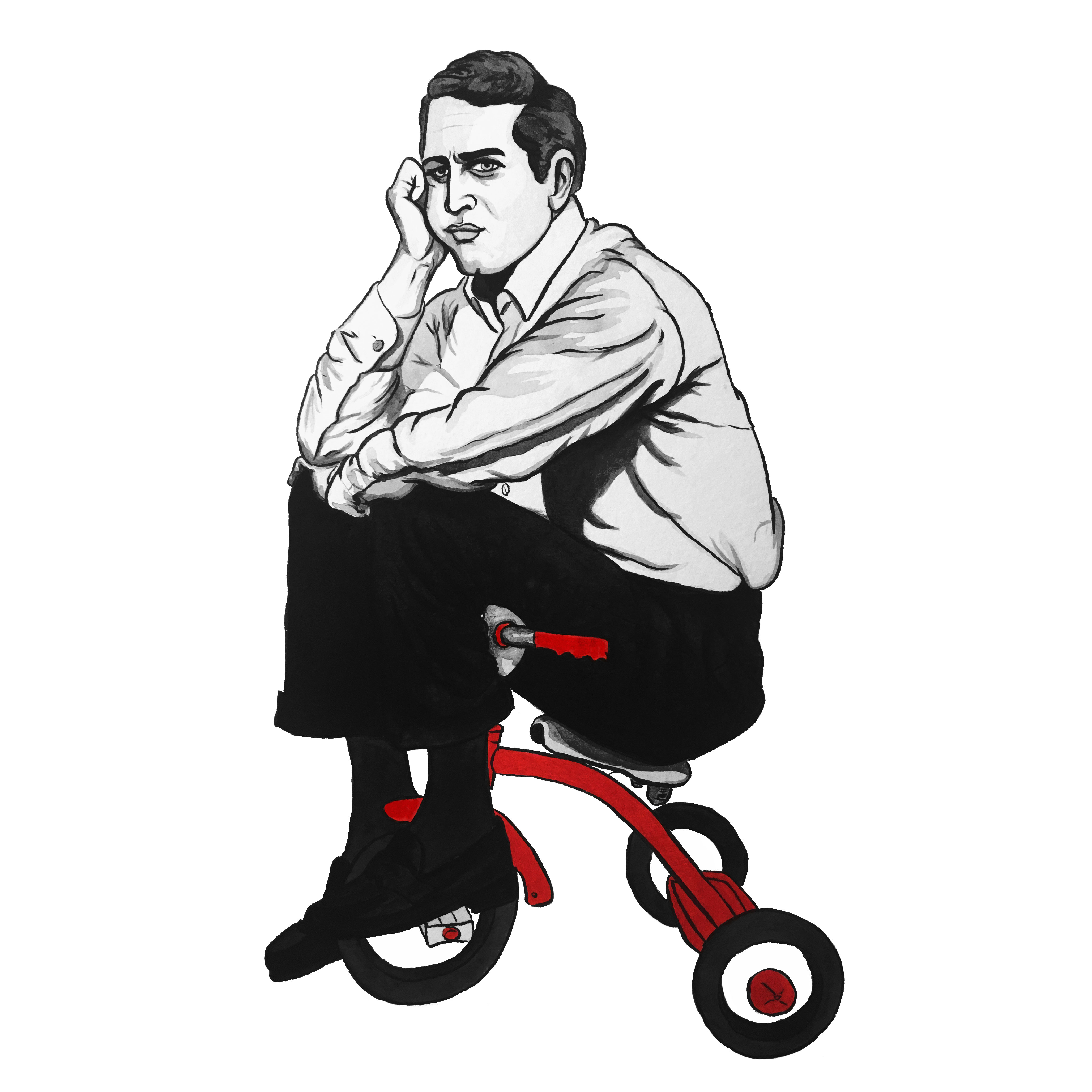 PaulNewman-tricycle